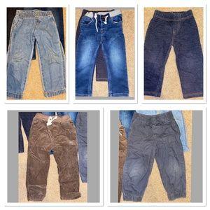 Bundle of boys 2T & 24 months pants